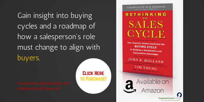 Purchase a copy of Rethinking the Sales Cycle now from Amazon!