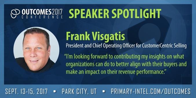 Come hear Frank Visgatis at Outcomes in Park City, Sep 13-15
